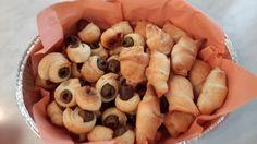 Sfoglia ripiena di olive e sfoglia ripiena di Zola e noci