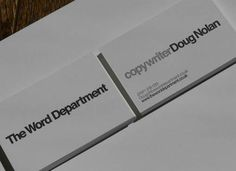 Word Department Design business card