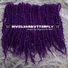 Wool & Silk Dreads  Purple Rain 40DE #purplerain #dreadlockextensions #wooldreads #BFLsilk #nvcl3arbvtt3rfly #fiberart #fiberartist #wooldreads #luxuryfiber #purpledreads #violetdreads