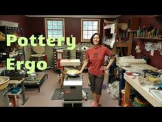Pottery: Ergonomics - How To Throw Standing Up Demo - YouTube