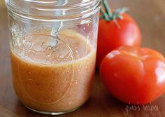 Skinny Red Wine Tomato Vinaigrette | Skinnytaste/ Cal: 51 * Fat: 5.1g * Carbs: 1.3 * Fiber: o.2 * Sugar: 0.2g * Protein: 0 * SS: 2T