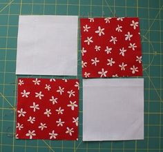 This month's block for the Block Lotto  is a disappearing 4-Patch or a 4 to 9-patch. What a cute block! And the red and white color scheme -...