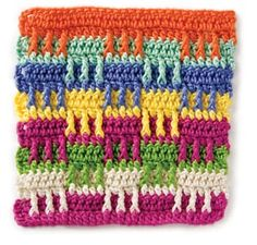 this stitch is yarn eater. but nice looking & feeling in texture.Stitchfinder : Crochet Stitch: Playblocks : Frequently-Asked Questions (FAQ) about Knitting and Crochet : Lion Brand Yarn