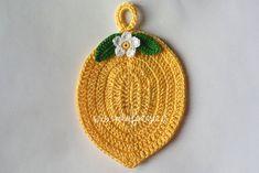 presina uncinetto a forma di limone schema - manifantasia