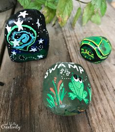 fully painted rocks