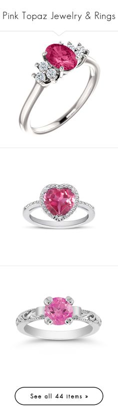 """""""Pink Topaz Jewelry & Rings"""" by applesofgoldjewelry ❤ liked on Polyvore featuring jewelry, rings, diamond jewellery, pink topaz ring, pink topaz jewelry, diamond rings, pink topaz diamond ring, apples of gold, halo diamond ring and sterling silver rings"""
