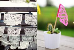 Papel Picado miniature banners for table numbers?
