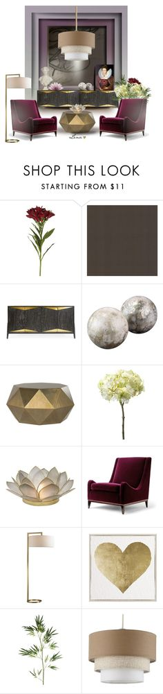 """""""Interior"""" by lenadecor ❤ liked on Polyvore featuring interior, interiors, interior design, home, home decor, interior decorating, OKA, Brewster Home Fashions, Jonathan Adler and Jamie Young"""
