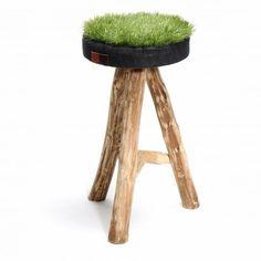 Green Grass  tabouret avec une assise en pelouse synthétique recyclée  - Taille XL