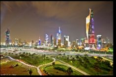 Kuwait towers in city