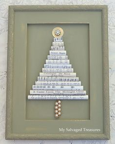 My Salvaged Treasures: Vintage Sheet Music Christmas Tree