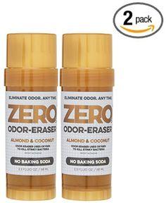 Odor Eraser All Natural Deodorant, Almond Coconut NO Baking Soda, Sensitive Skin, Aluminum Free, Gluten Free,