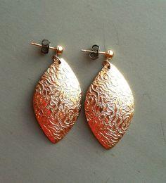 Vintage Embossed Gold Earrings by MatildaMarie on Etsy, $3.00