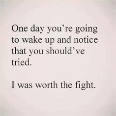 I am worth it, not was..