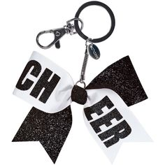 Chassé Mini CHEER Bow Keychain ($2.95) ❤ liked on Polyvore featuring accessories, fob key chain and mini key chain