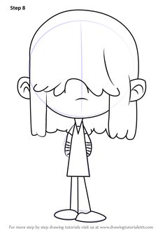 How To Draw Lucy Loud From The House Step By Learn Drawing This Tutorial For Kids And Adults