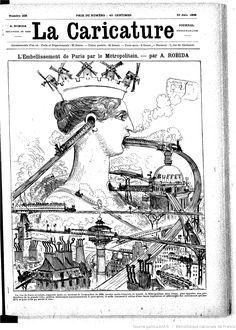 A. Robida,La Caricature n° 338, 19 juin 1886 - Métropolitain Paris