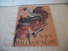 Vintage 1978 Navy William and Mary College Football Program | eBay