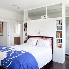 Closet Behind Bed Design, Pictures, Remodel, Decor and Ideas