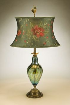 Gladys Table Lamp: Caryn Kinzig and Susan Kinzig: Mixed-Media Table Lamp - Artful Home