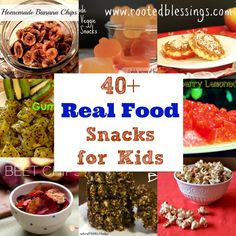 40+ Real Food, Real Healthy Snacks for Kids (not all allergy-friendly but great ideas in here!)