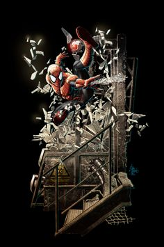 Spider-Man Statue Drawing for Sideshow Toys and Iron Studios - Mike Deodato Jr. Mike Deodato, Spectacular Spider Man, Amazing Spider, Marvel Now, Marvel Dc Comics, Sideshow Toys, Michael Jr, Ultimate Spider Man, Spiderman Art