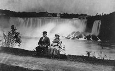 Young man and girl seated on the American side of Niagara Falls, circa 1858 Library and Archives Canada