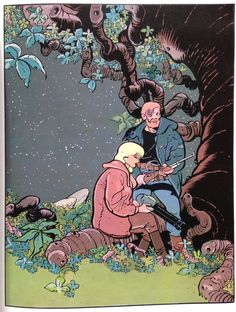 """Serge Clerc doing sci-fi with a text by Manchette? Yes! 1979, """"Mélanie White"""""""