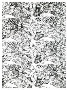 free coloring page coloring adults snakes complex very complex coloring page with - Coloring Pages Of Snakes 2