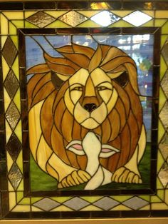 Someday The Lion Shall Lie Down with the by CatsEyeGlassCreation, $1850.00