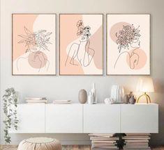 Botanical Wall Art, Botanical Prints, Botanical Decor, Minimal Art, Diy Wall Art, Wall Art Sets, Framed Wall Art, Wall Art Decor, Abstract Wall Art