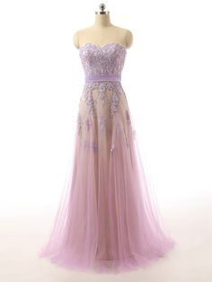 Charming Prom Dress,Tulle Prom Dresses,Appliques Evening Dress,Long Formal