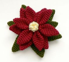 flor de crochê poinsettia