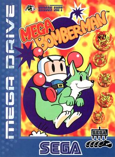 Mega Bomberman - Bomb your way around scrolling mazes collecting power-ups in search of the magical locket.