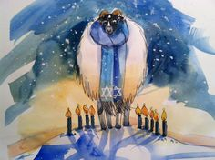 5 Original Watercolor Print  Hanukkah cards by WatercolorTales, $15.00