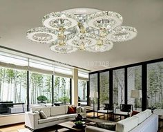 365.00$  Watch now - http://alimak.worldwells.pw/go.php?t=32306916559 - Modern Big k9 crystal chandelier Lights crystal ceiling mounted bedroom living room stainless steel led lights luminaria lustres