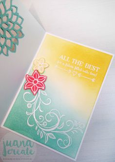 Falling Flowers and Better Together - Wedding Card. Inspired by Jessie Holton's CASE this Challenge. #CTC001.