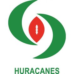 Logo of Huracanes ENEP Aragon UNAM. Rugby or Football Team logo. Name and sport described graphically and simply.