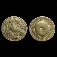 gold mohur of jahangir with portrait of his father akbar 1605