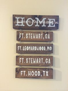 HOME is where the military {army, navy, marines, coast guard, air force} sends us // love the stained wood!!