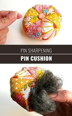 Sewing Hacks | Best Tips and Tricks for Sewing Patterns, Projects, Machines, Hand Sewn Items. Clever Ideas for Beginners and Even Experts | Pin Sharpening Pin Cushion | http://diyjoy.com/sewing-hacks #christmastips&tricks #sewingideasforbeginners