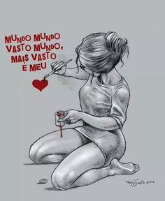 Poema de Sete Faces - Carlos Drummond de Andrade (Mundo mundo vasto mundo, mais vasto é meu coração).