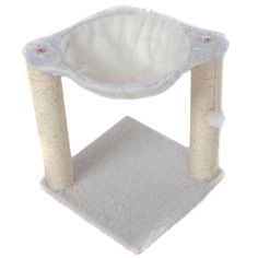 Favorite 17' H Soft faux fur Hammock Cat Tree Plush Condo Furniture with Sisal Scratching Post > More infor at the link of image  : Cat Beds and Furniture