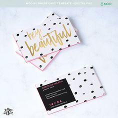 Make Up Artist Business Card - Hey Beautiful - Moo Template - Photoshop Template