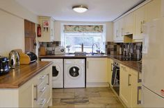 Extremely well equipped and spacious kitchen at Woodside, period cottage, near Newby Bridge and Lakeside Cottages, Period, Bridge, Home Appliances, Kitchen, House Appliances, Cabins, Kitchen Appliances, Cooking