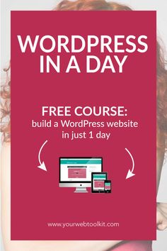 Create a website in WordPress in just one day, using these easy to follow tutorials. This FREE training is perfect for motivated online entrepreneurs who need a website now! Click to get access to the videos...
