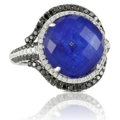 Lapis and Diamond Ring! Available at Houston Jewelry! www.houstonjewelry.com