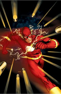 Here you'll find an other-worldly exhibition of The Worlds Greatest Superheroes, and Deadliest Super Villains of Marvel, & DC Comics. Kid Flash, Flash Art, Mike Mignola, Buffy The Vampire Slayer, Comic Book Covers, Comic Books Art, Dc Speedsters, Flash Barry Allen, Flash Wallpaper