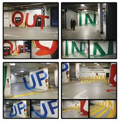 Cool ideas for wayfinding. Maybe something cool like this in the stairwell, but not that extreme