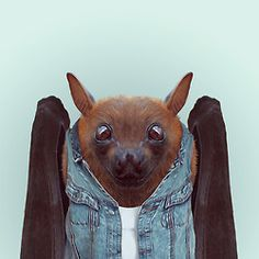 BAT by Yago Partal  for ZOO PORTRAITS